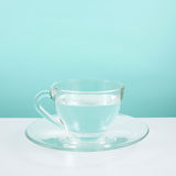 The glass cup of pure water Royalty Free Stock Photos