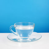 The glass cup of pure water Stock Photography