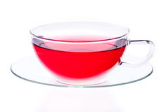 Glass cup of red tea Stock Photography