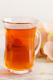 Glass cup of rooibos tea Stock Photography