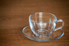 Glass cup and saucer Royalty Free Stock Image