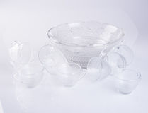 glass cup or set of glass cup on the background. Royalty Free Stock Image