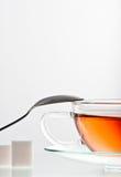 Glass cup of tea Stock Photos