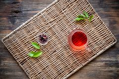 Glass cup with tea Stock Photography