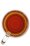 Glass cup of tea. View from above on glass cup of tea Royalty Free Stock Photos