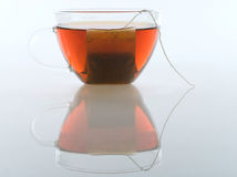 Glass cup of tea Royalty Free Stock Photo