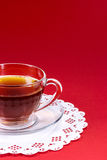 Glass cup of tea Royalty Free Stock Photography