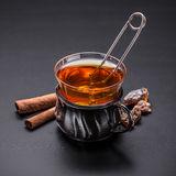 Glass cup tea Royalty Free Stock Photos