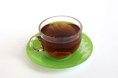 Glass Cup with tea Stock Photos