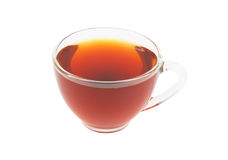 Glass cup of tea isolated Royalty Free Stock Photography