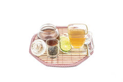 Glass cup with tea Royalty Free Stock Image