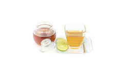 Glass cup with tea Stock Photo