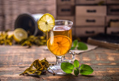 Glass cup tea Stock Photography