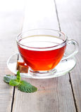 Glass cup of tea Royalty Free Stock Images