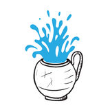 Glass cup with water, vector illustration Stock Photography