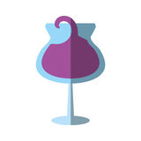 Glass cup wine restaurant drink design shadow Royalty Free Stock Photo
