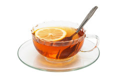 Glass Cup With Tea Stock Image