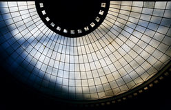 Glass cupola. From down view stock images