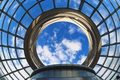 Glass Cupola. The Cupola on top of the Reich-stag building in Berlin stock photo