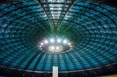 Glass cupola with lights Stock Photos