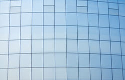 Glass curtain wall. Blue full glass curtain wall Stock Image