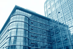 Glass curtain wall building Stock Photo