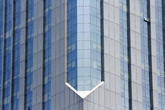 Glass curtain wall. The glass curtain wall of building . It looks neatly Royalty Free Stock Photo