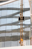 Glass curtain wall cleaning Royalty Free Stock Image
