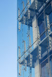 Glass curtain walls. Spider facade fixing system Royalty Free Stock Image