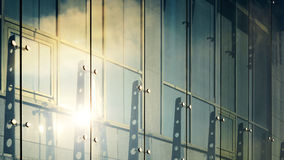 Glass curtain walls. Spider facade fixing system Royalty Free Stock Images