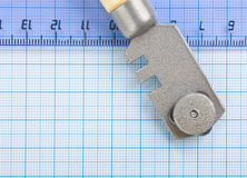 Glass cutter and  ruler Stock Images