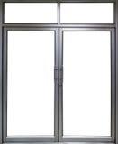 Glass dörr och fönster för kontor med kopieringsutrymme Royaltyfri Bild