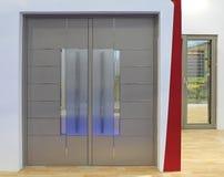 Glass dörrar arkivfoto
