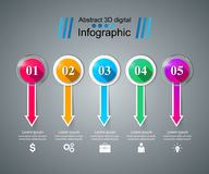 Glass 3D digital illustration Infographic. Business Infographics origami style Vector illustration. eps 10 stock illustration