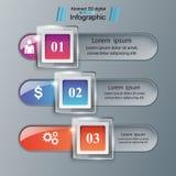 Glass 3D digital illustration Infographic. Business Infographics origami style Vector illustration. Marketing info stock illustration