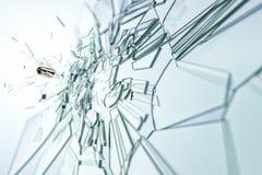Glass damaged bullet Stock Image