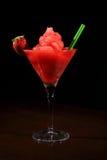 Glass of daquiri strawberry Stock Photos