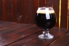 Glass of dark stout Royalty Free Stock Photo