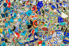 Glass debris background wall in Istanbul, Turkey Stock Image