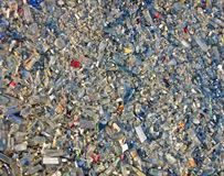 Glass Debris Heap, Environment Pullution, Stress, Royalty Free Stock Images