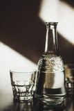 Glass and decanter Stock Photography