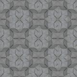 Glass decor tile with grooved surface. Seamless geometric patter. N. Shapes of rhombs, squares, stars. Textured background Royalty Free Stock Photos