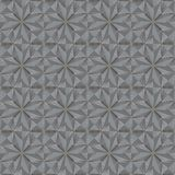 Glass decor tile with grooved surface. Seamless geometric patter. N. Shapes of rhombs, squares, stars. Textured background Stock Image