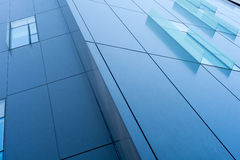 Glass decor window on corporate building Royalty Free Stock Images