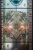 Glass decoration art of Thai Temple. Royalty Free Stock Photography