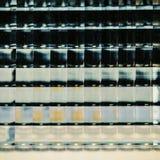 Glass decorative panel closeup. Background. Abstract glass closeup. Texture for interior Stock Photos