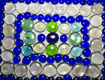 Glass Decorative Rocks Pattern Stock Photos