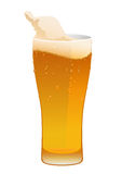 Glass of delicious fresh cold beer Royalty Free Stock Image