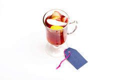 Glass of delicious glintwein or mulled hot wine Stock Images