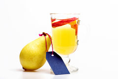 Glass of delicious glintwein or mulled hot wine Royalty Free Stock Photo